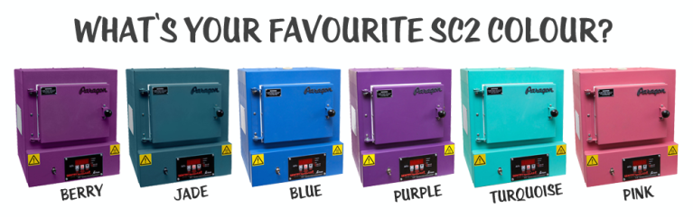Paragon SC2 kiln colour range rainbow